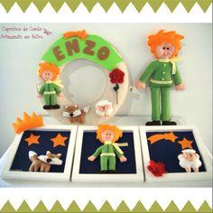 Kit O pequeno príncipe: enfeite de porta maternidade, trio de quadrinhos e boneco.    Orçamentos por e-mail: caprichosdacamila@gmail.com ou inbox no facebook: Caprichos da Camila
