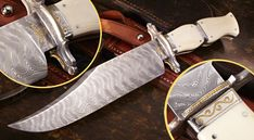 Elite Knives flare-handled bowie with ivory handle