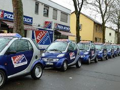 Smart Car Pizza Delivery fleet