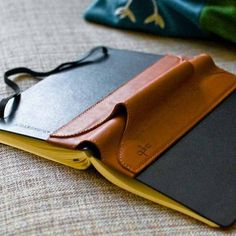 Single Pen Quiver for Hard-Cover Notebooks - $34