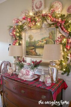Dining Room Sideboard | 2015 Christmas Dining Room Tour | The Everyday Home