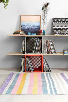 Plum & Bow Painted Stripe Rug #urbanoutfitters