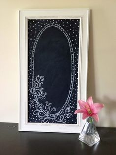 Vintage-Style, Hand Painted, Usable Chalkboard Art For the Home- Wedding Chalkboard- Shabby Chic- 10x20- Frame Included. $95.00, via Etsy. by Kharis