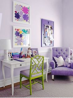 Winsome Lilac by Pratt and Lambert Paint color HGTV July August mag