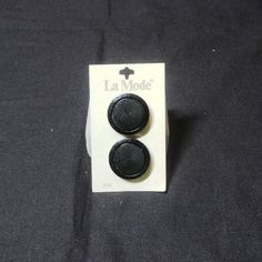 Vintage La Mode Black Shank Buttons on by VictorianWardrobe, $3.00