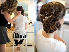 Wedding hair for @Lauren Elliott