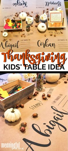 This has all the crafts & activity ideas to make your Thanksgiving table for kids epic.