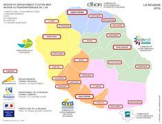 Carte administrative de La Réunion (974)