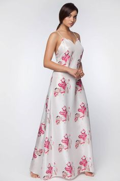 Long Silk Nightgown Open Back Silk Nightgown Bridal Sexy Lingerie, Lace Lingerie Set, Bridal Lingerie, Honeymoon Lingerie, Satin Dresses, Sexy Dresses, Short Dresses, Party Dresses For Women, Casual Dresses For Women