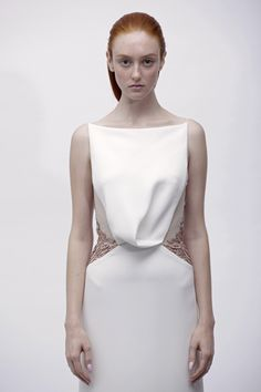 Angel Sanchez Spring 2013 (front of nearby  laser cut back)