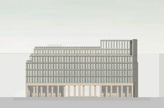1. Platz, Ortner & Ortner Baukunst, Ansicht Gertraudenstrasse