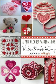 There are some absolutely fabulous free patterns in this Valentines round-up by Moogly http://www.mooglyblog.com/10-free-valentine-crochet-pattern/