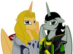 MLP: loki and thor by lizzytheviking.deviantart.com on @deviantART. Awesome! xD
