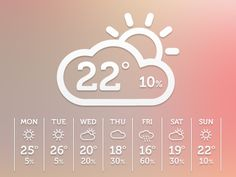 Dribbble - Weather by Rob Marshall
