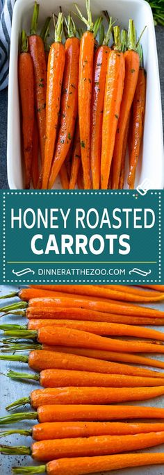 Honey Roasted Carrots – Dinner at the Zoo Honey Roasted Carrots Recipe Easy Carrot Recipes, Honey Recipes, Vegetable Recipes, Vegetarian Recipes, Healthy Recipes, Easter Recipes, Delicious Recipes, Healthy Food, Healthy Eating