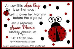 garden theme baby shower | Ladybug Baby Shower Invitations And Theme | Ideas For Baby Shower