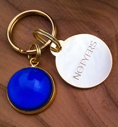 "The ""MOOD DOG"" Collar Charm by NOTYERS:   Color Changing, Gold Polish Hardware , Split Ring Attachment  #dog # cat #collar #moodstone #gold #charm"