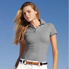 Ralph Lauren Womens Short Polo T Shirts Logo Outlet Online