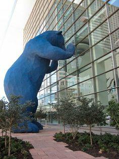 Denver, Colorado's 'Big Blue Bear'….peek a boo!