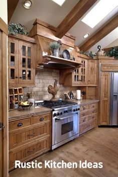 30 Most Popular Rustic Kitchen Ideas You'll Want to Copy Rustic Kitchen Ideas - Do you wish to run away the busy city life? This post includes 30 countrified kitchen layouts that add a stunning rustic style to your kitchen . Rustic Kitchen Cabinets, Rustic Kitchen Design, Best Kitchen Designs, Painting Kitchen Cabinets, Kitchen Redo, Interior Design Kitchen, New Kitchen, Kitchen Remodel, Kitchen Ideas