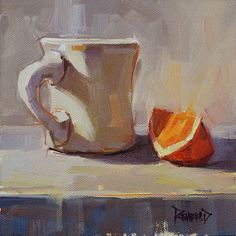 Mug and Orange Slice still life