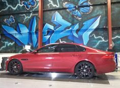 jaguar XF in for tuning and remapping at Viezu this week