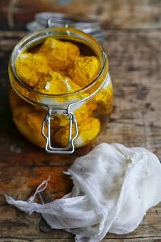 """Labneh cheese in oil. """"Repinned by Keva xo""""."""
