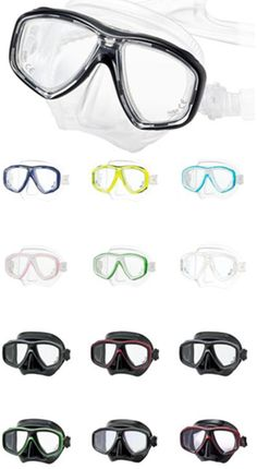 e5e7f126bc7c Tusa Freedom Ceos Mask with Corrective Lenses fits Petite to Medium adult  faces. Dive Shop