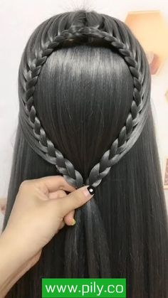Easy Hairstyles For Long Hair, Braids For Long Hair, Up Hairstyles, Braided Hairstyles, Hair Up Styles, Medium Hair Styles, Hair Style Vedio, Hair Tutorials For Medium Hair, Hair Videos