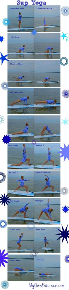 sup yoga collage