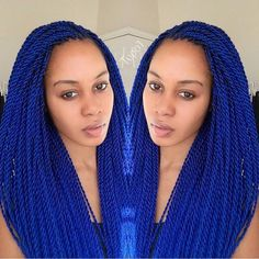 Blue Twists @tupo1 -  #braidsandtwists