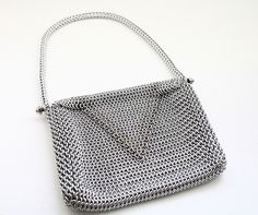 European 4-1 Chainmaille Purse with Full Persian Strap - Bright Aluminum & Stainless Steel | Flickr - Photo Sharing!