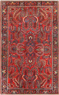 Antique Persian Sarouk Rug 48170 Main Image - By Nazmiyal