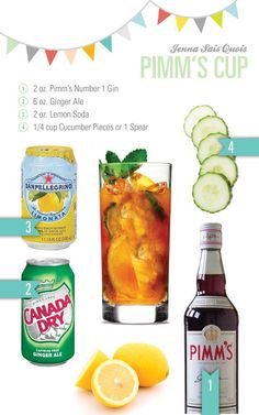 PIMM'S CUP PUNCH. In a Collins glass with ice, pour 2 oz each of Pimm's No. 1 Cup and Lemon Soda and 6 oz of Ginger ale. Stir to combine. Garnish with a cucumber wheel or spear.