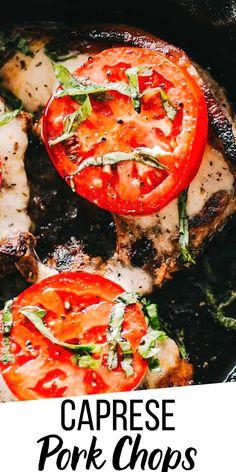 Glazed Pork Chops, Juicy Pork Chops, Easy Pork Chop Recipes, Pork Recipes, Entree Recipes, Dinner Recipes, Pork Chop Dinner, Balsamic Glaze, Skillets