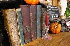 Spell books - Harry Potter party decoration idea