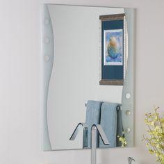Decor Wonderland SSM182 Frameless Maritime Wall Mirror | ATG Stores