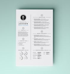 Are you looking to create an expensive new resume that's as stylish, expressive, and credible as your MAC? Why not use some dedicated resume templates for MAC; these resume… Graphic Design Resume, Cv Design, Typography Design, Clean Design, Self Branding, Cv Inspiration, Graphic Design Inspiration, Simple Resume Template, Resume Templates