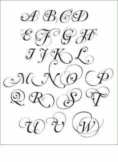 Fonts Alphabet Cursive IJpg  Craft Ideas    Fancy