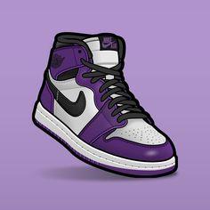 "SLOFAR on Instagram: ""Court Purple vs Purple toe #sneakerposters #sneakerart #sneakervector #jordan1 #jordan1s #jordan1courtpurple #jordan1purple"" Sneakers Wallpaper, Shoes Wallpaper, Nike Wallpaper, Iphone Wallpaper, Jordan 1, Jordan Shoes, Zapatillas Jordan Retro, Purple Toes, Sneaker Posters"