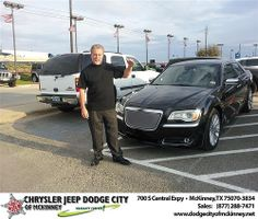 #HappyAnniversary to  Inc. Hanks Brokerage on your 2013 #Chrysler #300 from Brent Villarreal  at Dodge City of McKinney!