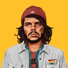 """Imagina que Nelson Mandela, Margaret Thatcher o el Che Guevara fueran de la tribu urbana más de moda: hipsters. ¿Cuál sería su aspecto? ¿Y si lo fuera Lenin? ¿o Gandhi? ¿o J. F. Kennedy?  Amit Shimoni, un diseñador israelí de 28 años, ha respondido a estas preguntas a través de una serie de ilustraciones llamada Hipstory, donde recrea personajes icónicos convirtiéndolos en hipsters icónicos. """"Las ilustraciones son mi pasión."""