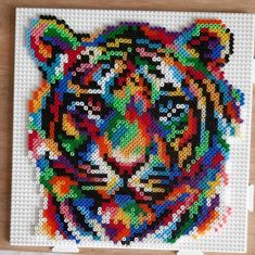Perler Bead Templates, Diy Perler Beads, Perler Bead Art, Melty Bead Patterns, Perler Patterns, Beading Patterns, Pixel Art, Easy Yarn Crafts, Graph Paper Art