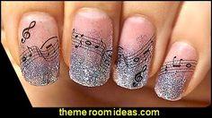 Music Nail Decals-Ar Notes Decoration Designer Wraps