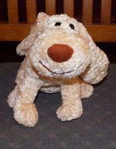 "8"" GREAT AMERICAN TOY CO Beige Tan Plush PUPPY Dog w/ BIG Brown Nose  31 #GreatAmericanToy"