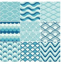 Ocean wave japanese art | Seamless ocean wave pattern vector