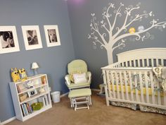 """My niece's nursery.  I love that her mom didn't use the typical """"pink and frilly"""" baby girl theme!"""