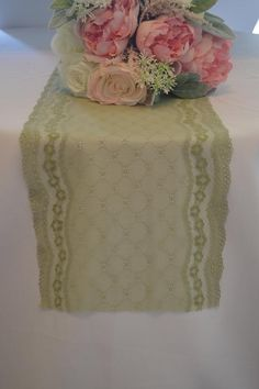 Items similar to Dusty Green Lace wide choose FT length/Cut lace not hemmed/Table runner/Ask for free swatch prior to ordering/vintage light olive on Etsy Lace Runner, Lace Table Runners, Aqua Wedding, Fall Wedding, Wedding Ideas, Olives, Table Verte, Swatch, Green Table