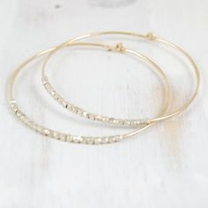 fail jewelry: duality gold and silver hoop s/m/l