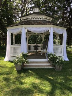 Draping to accent and frame bridal party for garden wedding #weddingceremony #gazebodrape #weddingdraping #lethbridgeeventrentals #lethbridgeevents #weddingdecor #gazebowedding Garden Show, Home And Garden, Gazebo Lighting, Wedding Draping, Fall Flowers, Design Consultant, Staging, Garden Wedding, Tent